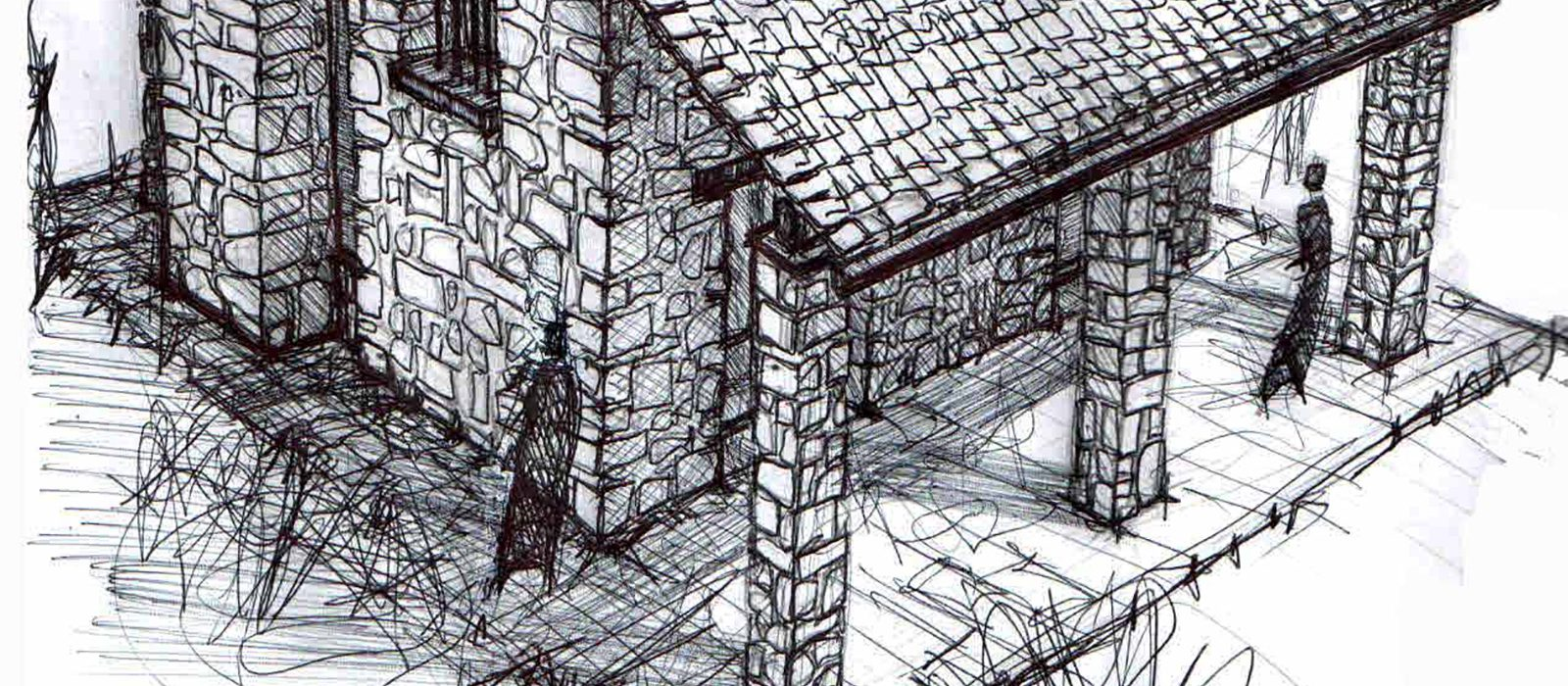 01_disegni_giuseppe_passaro_architetto_reggio_emilia_casa_montagna