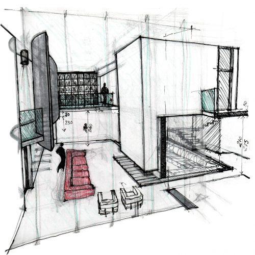 01_progetto_residenziale_giuseppe_passaro_architetto_cavola_disegno_preparatorio