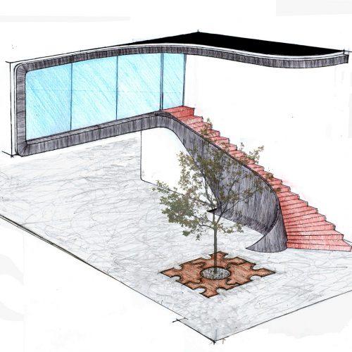 02_house_r05-16_architetto_giuseppe_passaro_disegno_preparatorio_scala_curvilinea