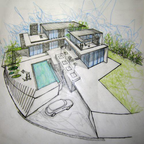 02_progetto_residenziale_giuseppe_passaro_architetto_cavola_disegno_preparatorio